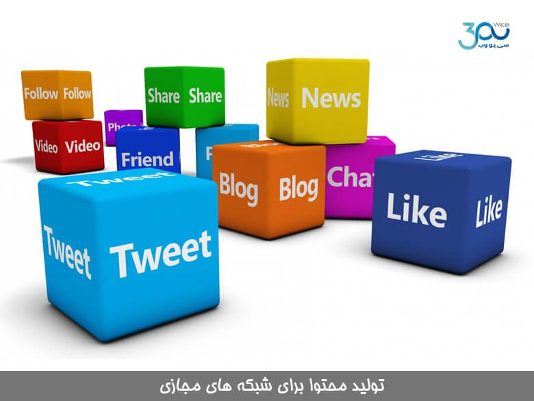 محتوا نویسی در شبکه های اجتماعی